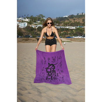 Diamond Collection Colored Beach Towel (Screen Print)