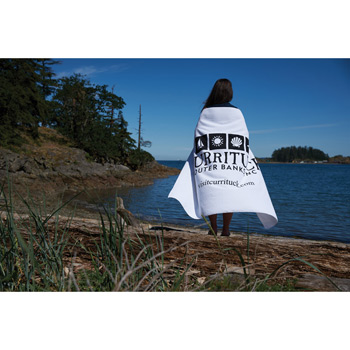 Oversized White Beach Towel (Embroidery)
