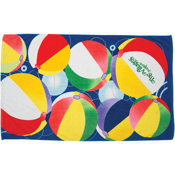 Beach Ball Stock Design Beach Towel