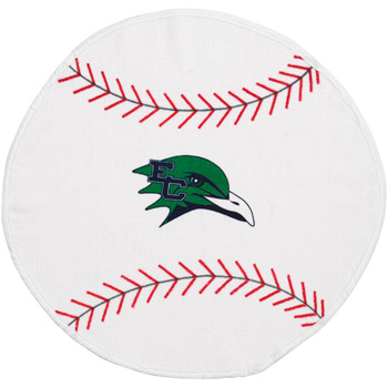 Fiber Reactive Baseball Shaped Sport Towel (Screen Print)