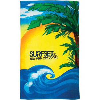 Beach Scene Stock Design Beach Towel