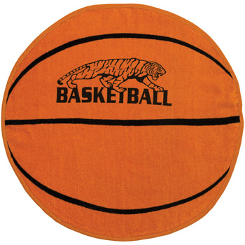 Fiber Reactive Basketball Shaped Sport Towel (Screen Print)