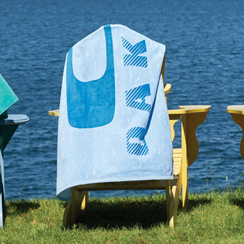 Blue Distressed Stock Design Beach Towel