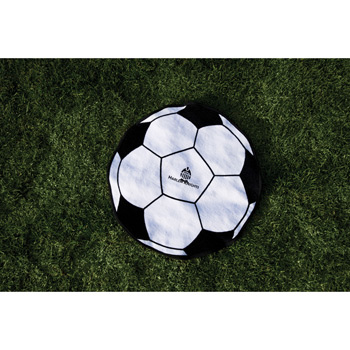 Fiber Reactive Soccer Ball Shaped Sport Towel (Screen Print)