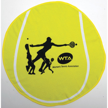 Fiber Reactive Tennis Ball Shaped Sport Towel (Screen Print)