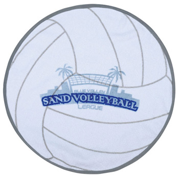 Fiber Reactive Volleyball Shaped Sport Towel (Screen Print)